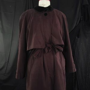 Vintage Jackets & Coats - Gallery deep marron trenchcoat !
